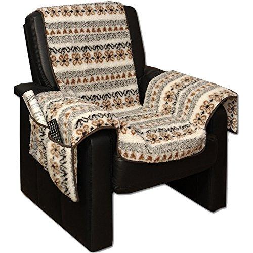 JEMIDI Lammflor Sesselschoner Sesselauflage Überwurf Sesselüberwurf Sesselbezug Polster (Gemustert)