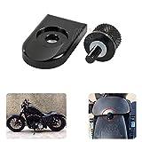 Für Harley Sportster Softail Dyna Street Bob Fatbob 1996–2015Motorrad Aluminium 6mm/1/10,2cm gerändelt hinten Sitz Bolt Schraube
