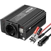 Bapdas 300W Kfz-Wechselrichter / Spannungswandler DC 12 V auf AC 230 V, 220V inkl. USB-Anschlüssen (4,2 A)