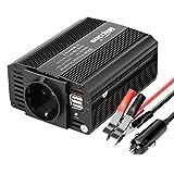 Bapdas 300W Power Inverter da Auto DC 12V a 220-240V AC, 2 Porte USB 4.2A