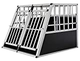 Aluminium Dog Cage Pet Cage Transport Cage Animal Cage Crate 4 Sizes Petigi, Size:L - double door