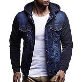 Dragon868 Strickjacke Herren Herbst Winter Hooded Vintage Demin Jacke Tops Fell Outwear