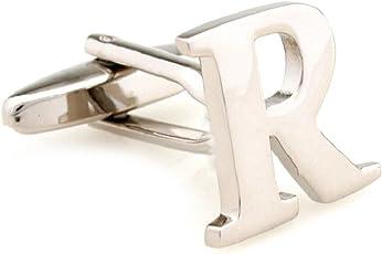 SS Men's Copper Letter R Cufflinks (Silber, SS238)