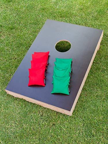 Cornhole Set mit einem Brett und 8 Säckchen - Top Qualität made in Germany, handgemacht