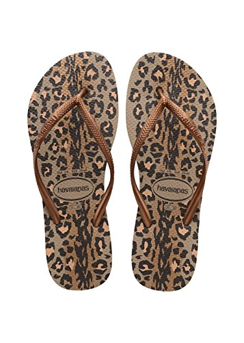 Havaianas Slim Animals, Damen Zehentrenner, Mehrfarbig (Rose Gold/Dark Copper 8547), 35/36 EU (33/34 BR)