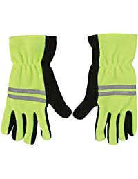 Hi vis viz gloves fluorescent grip gripper scotchlite reflective