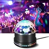 Discolicht, Discolicht LED Discokugel 48LEDs 12W Discolampe Partyleuchte LED Party Bühnenbeleuchtung RGB Lichteffekt mit Musik und Stimme Steuerung Licht Deko für Weihnachten Club Party Feier