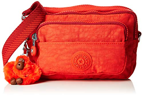 Kipling Multiple Sport, Borsa a tracolla, Donna, Rosso (Active Red), 20x13x7.5 cm