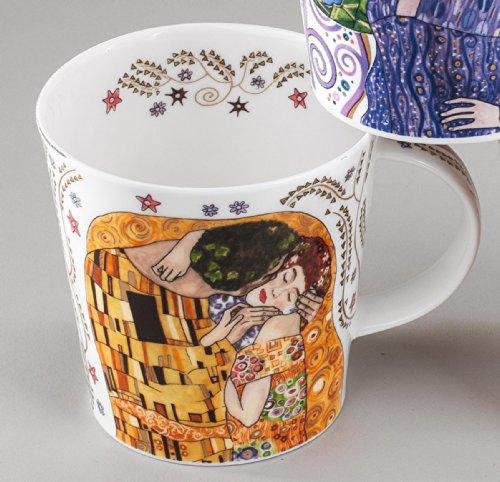 "Dunoon Becher Adoration - Motiv Klimt \""Der Kuss\"", Tassenform Cairngorm"