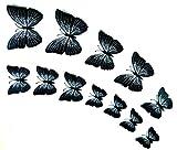 3D Schmetterlinge Wandtattoo schwarz Wanddeko Wandtatoo mit Magnet/Klebe-Punkte