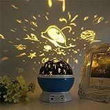 FONKIC Baby Nachtlicht Mond Sterne Projektor Schreibtischlampe USB Rechargable Kreatives Geschenk,Ocean