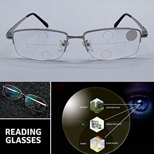 Espeedy Intelligente Lesebrille Progressive Multifokallinsen Presbyopie Anti Müdigkeit Gläser