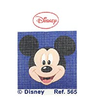 Haberdashery Online Half stich embroidery Kit for children, 18 x 15 cms. Collection Mickey Mouse - model 565