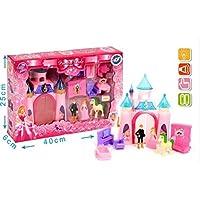 Mgm-100018-Mobili per bambola, Castello Disney sonica e luminoso, 15 Cm,