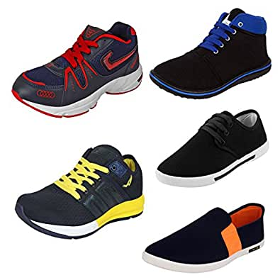 WORLD WEAR FOOTWEAR for Men's Casual Shoes of 5 Pair Combo