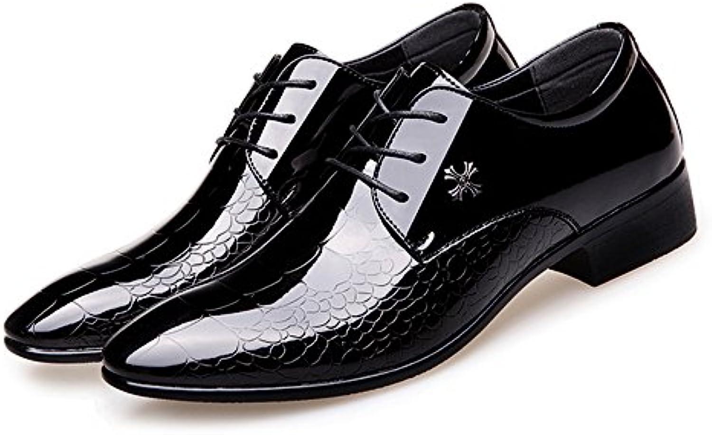 Xujw shoes  2018 Schuhe herren  PU Leder Schuhe der Männer glätten Schlangen Haut Beschaffenheits Oberleder Spitze