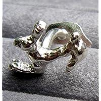 Gemelli in argento con i conigli di salto