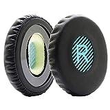 MMOBIEL Ohrpolster Ear Pads Kissen Ersatz für Bose Sound link On-Ear Headset OE OE2 OE2i SoundTrue mit Memory Foam aus Kunstleder (Schwarz/Blau)