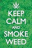 1art1 61913 Cannabis Poster - Ruhe Bewahren Und Gras Rauchen, In Englisch, 91 x 61 cm