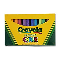 Crayola 510403 Colored Drawing Chalk, Assorted Colors 12 Sticks/Set