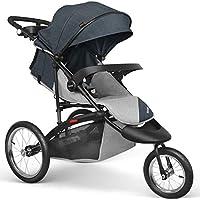 besrey Poussette 3 Roues Jogging Poussette Sport Jogger Pour Tout Terrain, Pour bébé de 6 à 36 mois - Gris