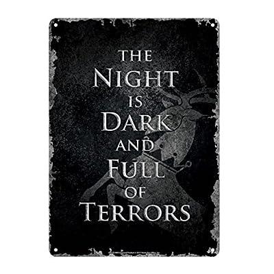 Genuine Game of Thrones The Night Is Dark A5 Steel Sign Tin Wall Door Plaque