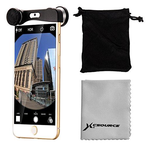 Argento Obiettivo Fisheye + Grandangolo Lente + Micro lens Per iPhone 6 4.7 DC574 Argento