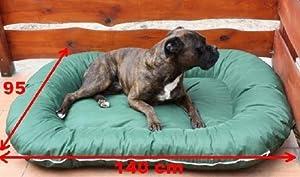 Panier pour chien 140x95x17 couverture déhoussable vert