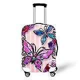OSVINO Koffer Abedeckung Kofferschutzhülle Schmetterling-Serie perfekt mit Reißverschluss sitzende für 18-28 Zoll Reisekoffer, Schmetterling1 S/18-20 Zoll