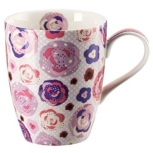 Hutschenreuther 02471-725748-15505 Lots of dots Field Becher mit Henkel 0,3 L, rosa