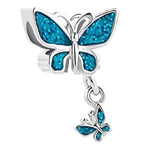 Korliya Charm-Anhänger Schmetterling Tier für Armband