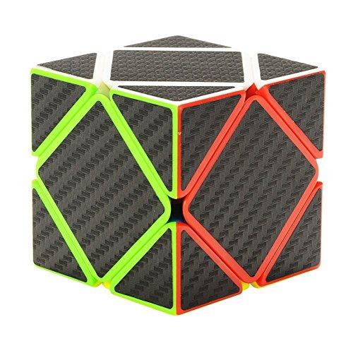 Preisvergleich Produktbild Twister.CK Skewb Geschwindigkeits-Würfel mit Carbon-Faser-Aufkleber, Oblique Twist Magic Cube Puzzle Denksportaufgaben für Cube-Enthusiasten, Kinder Geschenk für Intelligence Development
