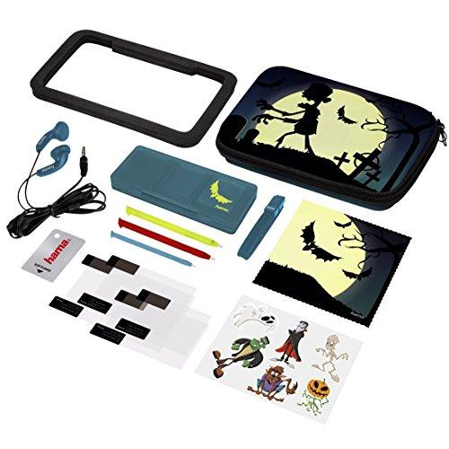 Hama 15in1-Zubehör-Set Undead für Nintendo New 3DS/New 3DS XL (inkl. Tasche, Schutzfolien, Kopfhörer, Stifte) (Zu Musik Halloween An Spielen)