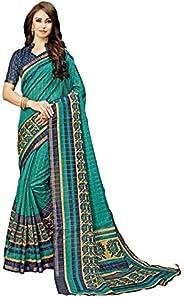 CLOTHAM Women's Art Silk Saree With Unstitched Blouse Piece (clotham16_Multicolo