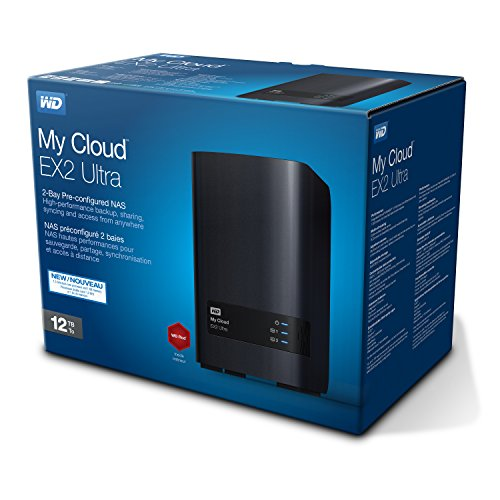 WD WDBVBZ0120JCH-EESN My Cloud EX2 Ultra Network Attached Storage, 12 TB