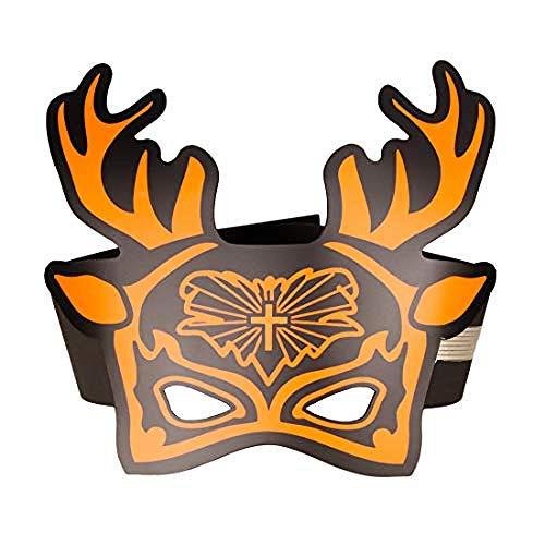 Horrormaske Weihnachten Masken Musik Voice Control Up Weihnachtsmann Maske Cosplay Led Kostüm Dekoration für Erwachsene und Jugendliche Party (Santa Claus2) Weiß @ - Weißes Geweih Kostüm