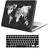 "Funda MacBook Air 13 Case , iCasso Nebula WorldMap Pattern Ultra Delgado Slim Dura Rígida Snap On Plástico Proteccion Matte anti-polvo de Protector Hard Cover Para MacBook Air 13"" (modelo: A1369 / A1466)"