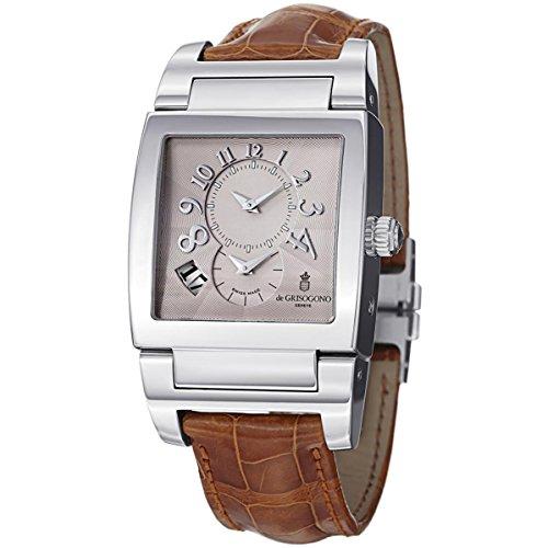 de GRISOGONO Men's Instrumento No. Uno Steel Case Automatic Watch UNODF N01
