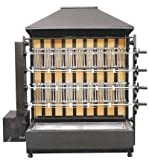 GOO Gastro GO4622G Gewerbe Holzkohlegrill mit 4 Spieße für 20 Hähnchen Grill Hähnchen Profigerät