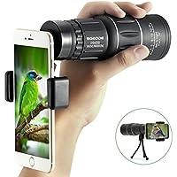 10x 52Monokular Scope, sgodde tragbar HD Spektive Optische Prism Teleskop mit Handschlaufe/Stativ und Universal Handy Adapter für die Vogelbeobachtung, Wildlife betrachten
