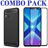 AONIR Combo Offer - 5D_Tempered Glass & Hybrid Back Cover_Premium Quality Screen Guard And Soft Case Cover For Huawei Honor 8X