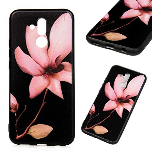 Edauto Huawei Mate 20 Lite Hülle Silikon Case Handyhülle Schutzhülle TPU Slim Fit Tasche Silikonhülle Handyhülle Handytasche Backcover Handycover Pulverblume