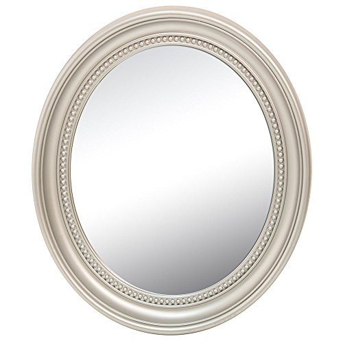 BHP Design Wand Spiegel Bade Gäste Zimmer Ornamente Rahmen oval Barock Antik Silber B991486-24