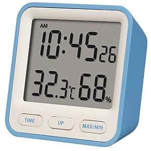 Hygromètre de Horloge Weiß/Blau