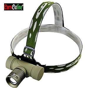 Bailong BL-6855 Lampe frontale rechargeable longue durée Super zoom avec Batterie 18650 et puissance 400/800 m