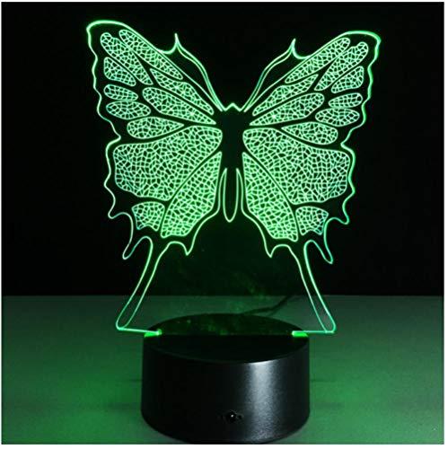 Großhandel 7 Bunte Künstliche Schmetterling Led Nachtlicht Home Party Schlafzimmer Hochzeit Dekoration Lichter Schreibtisch Tischlampe Kinder Geschenk-Touch