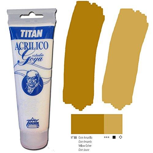 Colori giallo Titan Goya Acrilici di studio - Tubo 125 ml, 88-Giallo Ocra