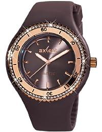 Axcent of Scandinavia Axcent of Scandinavia - Reloj analógico de cuarzo para mujer con correa de caucho, color marrón