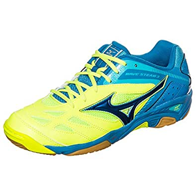 Mizuno  Wave Steam 3, Chaussures de Handball homme neongelb / blau 13.0 UK - 48.5 EU