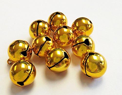 Spoilt Rotten Pets Glöckchen, 16 mm Durchmesser, goldfarben, 10 Stück -